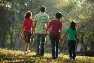 family-walking-bipolar-disorder